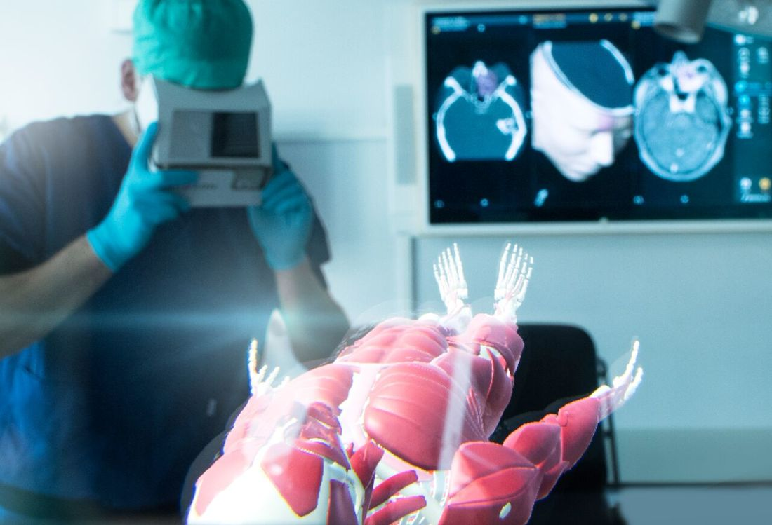 Augmented Reality used to showcase the Anatomy